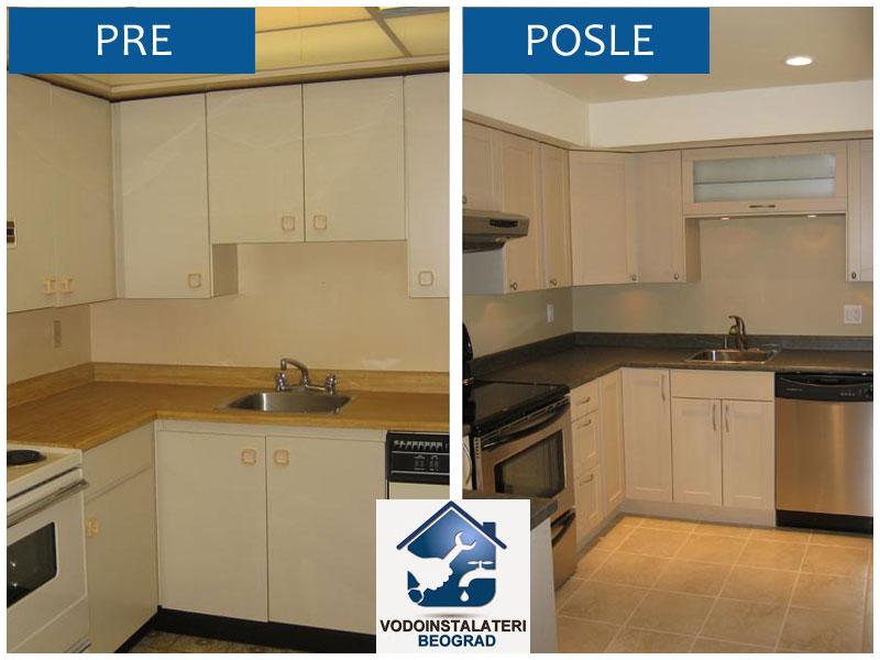 Renoviranje kuhinje - pre i psole