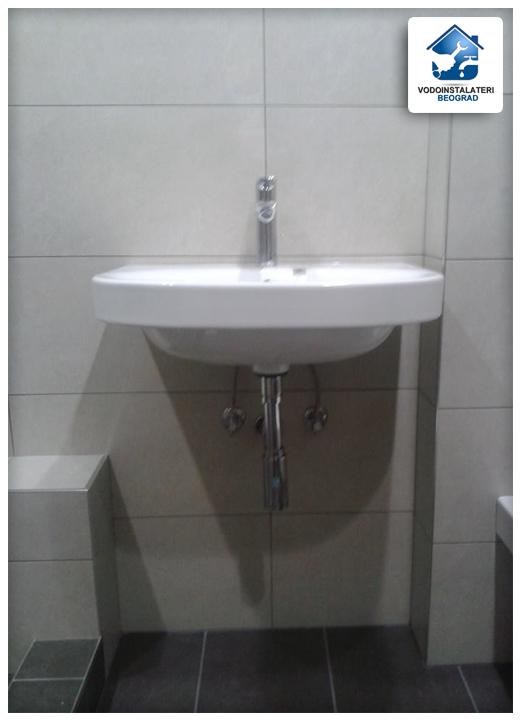 adaptacija kupatila beograd - ugradnja lavaboa - pre i posle