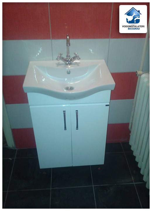 ugradnja lavaboa sa ormanom renoviranje kupatila