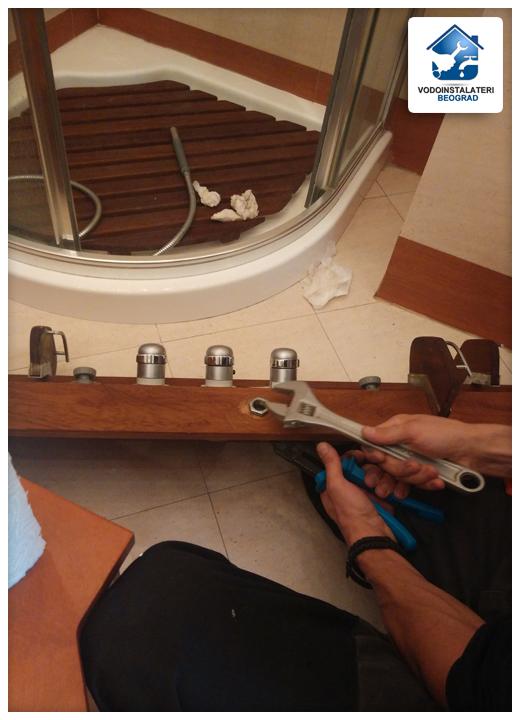 Ugradnja ručice tuša na masažer