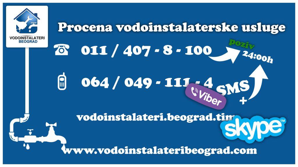 Procena vodoinstalaterske usluge - vodoinstalateri beograd TIM