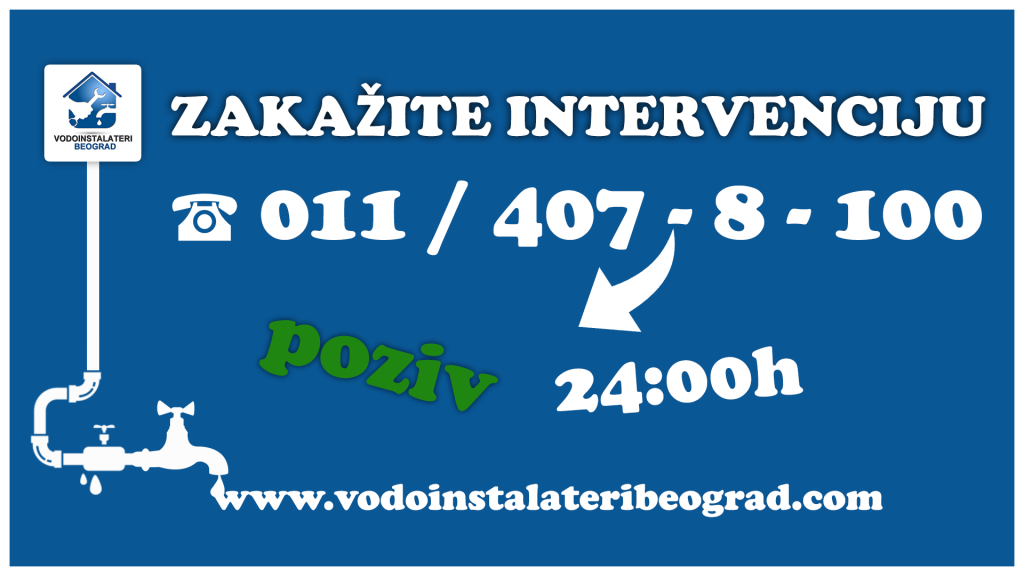 Zakažite intervenciju - Vodoinstalateri Beogra Tim