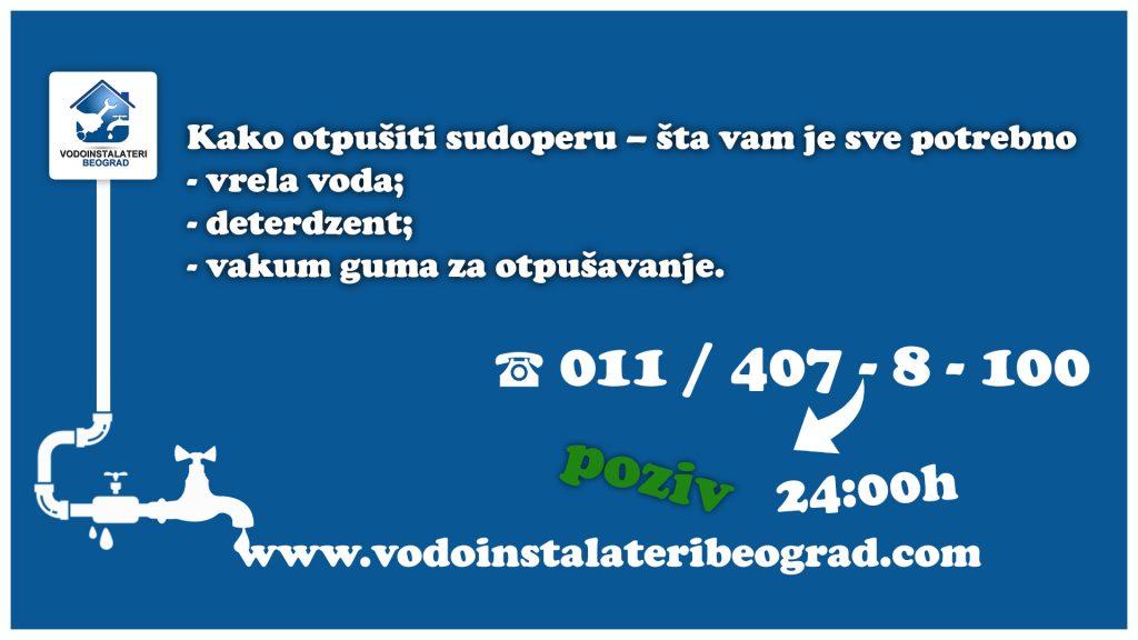 Kako otpušiti sudoperu - Vodoinstalateri Beograd Tim