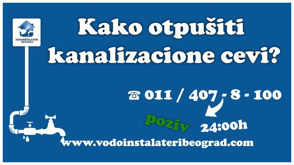 Kako otpušiti kanalizacione cevi - Vodoinstalateri Beograd Tim