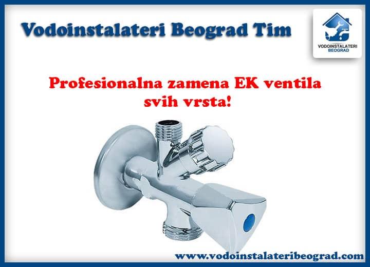 Zamena EK ventila - Vodoinstalateri Beograd Tim