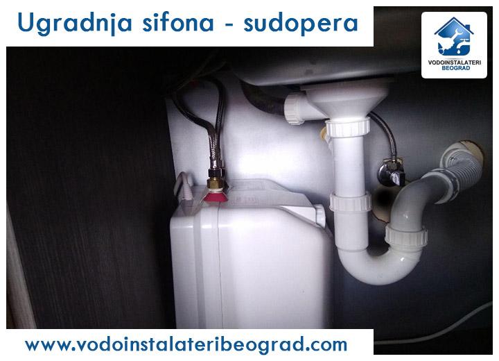 Ugradnja sifona - sudopera - Vodoinstalateri Beograd Tim