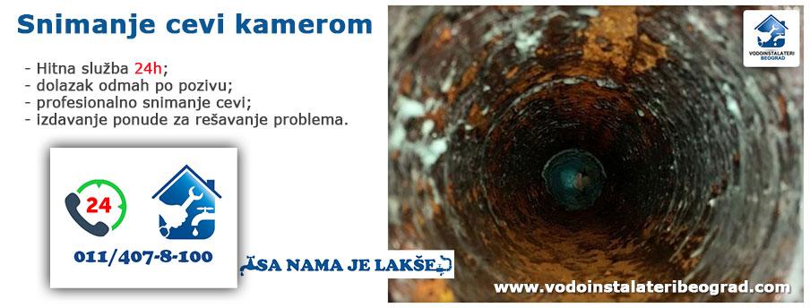 Snimanje cevi kamerom - Vodoinstalateri Beograd Tim