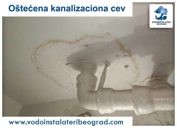 Oštećena kanalizaciona cev - Vodoinstalateri Beograd Tim