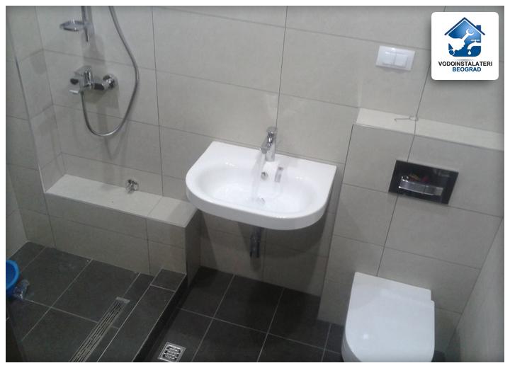 Adaptacija kupatila Beograd - tuš kabina - lavabo i wc-školjka