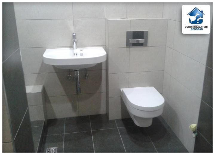Adaptacija kupatila Beograd - ugradnja lavaboa wc-šolje i ugradnog vodokotlića