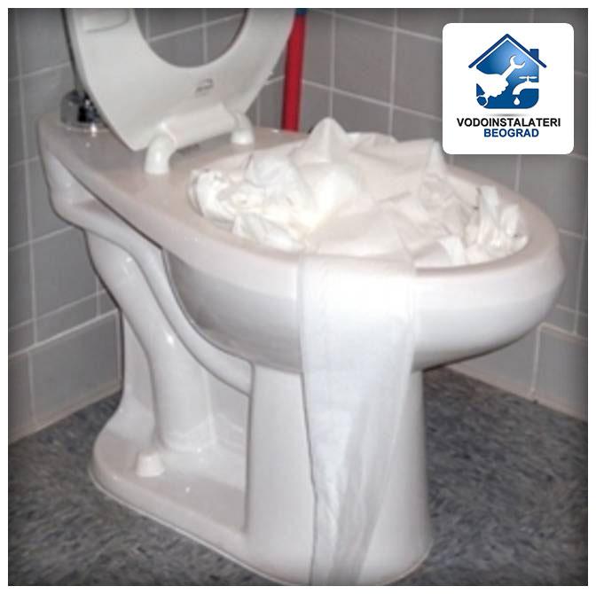 Zagušenje wc školjke