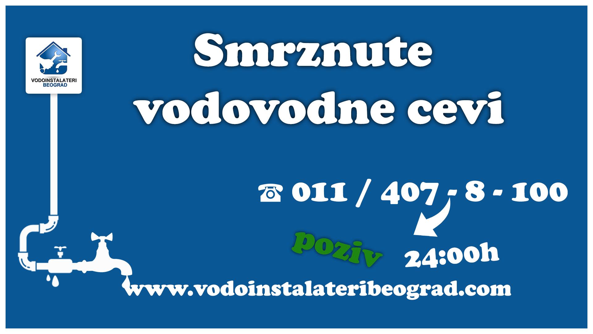 Smrznute vodovodne cevi - Vodoinstalateri Beograd Tim