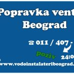 Popravka ventila Beograd