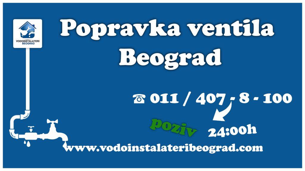 Popravka ventila Beograd - Vodoinstalateri Beograd Tim