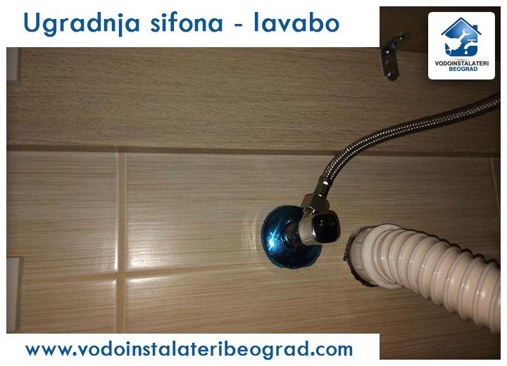 Ugradnja sifona - lavabo - Vodoinstalateri Beograd Tim