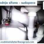 Ugradnja sifona – sudopera