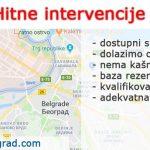 Hitne intervencije Novi Beograd