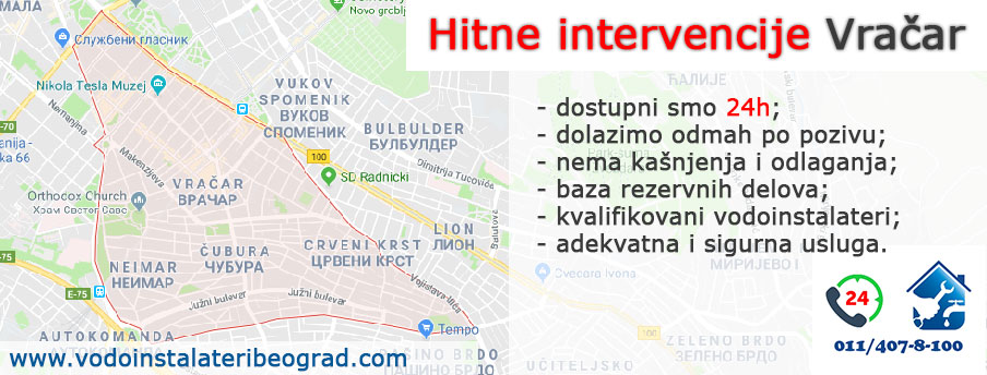 Hitne intervencije Vračar - Vodoinstalateri Beograd Tim