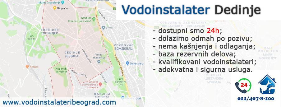 Vodoinstalater Dedinje - Vodoinstalateri Beograd Tim