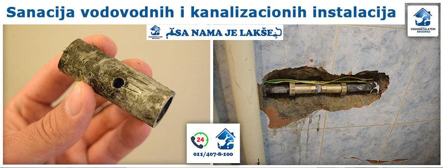 Sanacija vodovodnih i kanalizacionih instalacija - Vodoinstalateri Beograd Tim