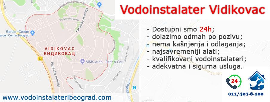 Vodoinstalater Vidikovac - Vodoinstalateri Beograd Tim