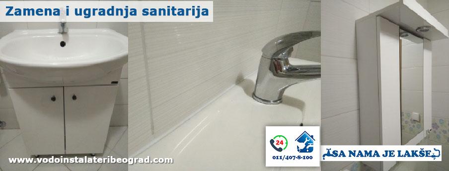 Zamena i ugradnja sanitarija - Vodoinstalateri Beograd Tim