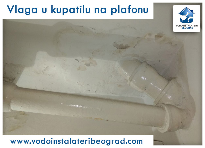 Vlaga u kupatilu na plafonu - Vodoinstalateri Beograd Tim