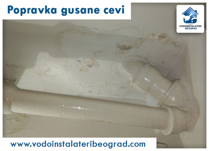 Popravka gusane cevi - Vodoinstalateri Beograd Tim