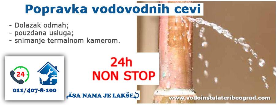 Popravka vodovodnih cevi - Vodoinstalateri Beograd Tim