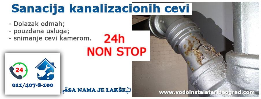 Sanacija kanalizacionih cevi Beograd - Vodoinstalateri Beograd Tim