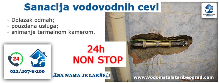 Sanacija vodovodnih cevi Beograd - Vodoinstalateri Beograd Tim