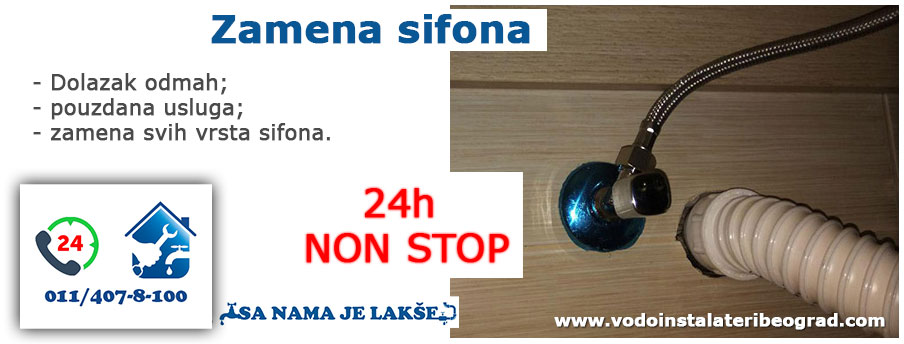 Zamena sifona - Vodoinstalateri Beograd Tim