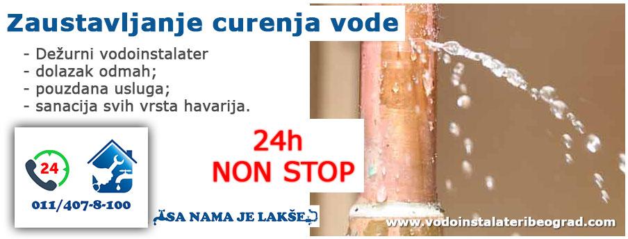 Zaustavljanje curenja vode - 24h - Vodoinstalateri Beograd Tim