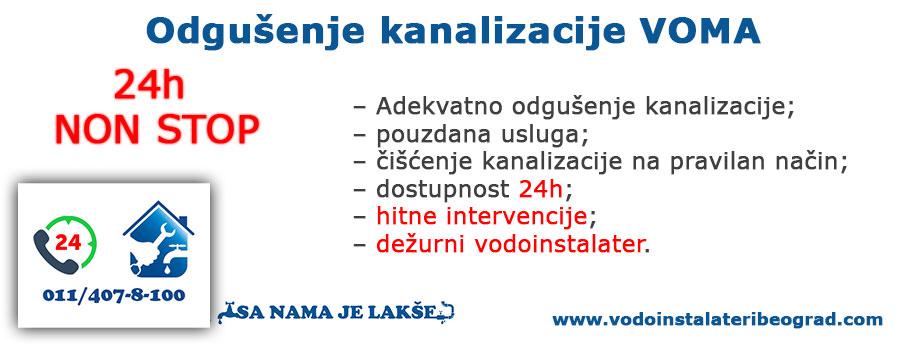 Odgušenje kanalizacije VOMA - Vodoinstalateri Beograd Tim