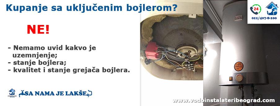 Kupanje sa uključenim bojlerom - Vodoinstalateri Beograd Tim