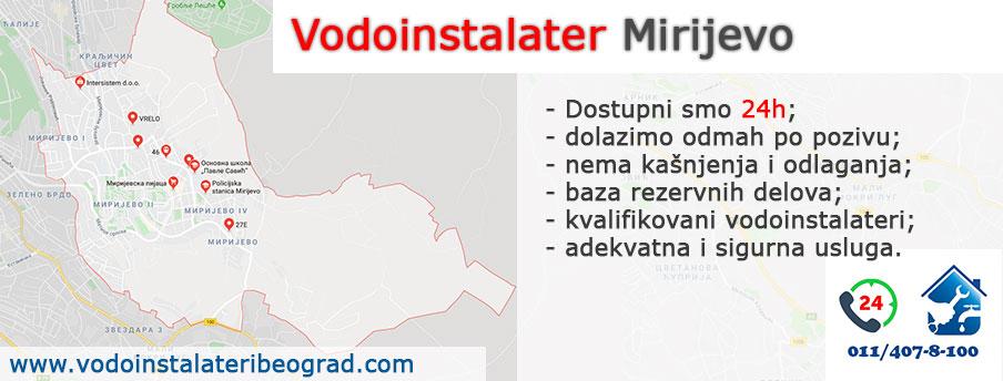 Vodoinstalater Mirijevo - sve vodoinstalaterske usluge.
