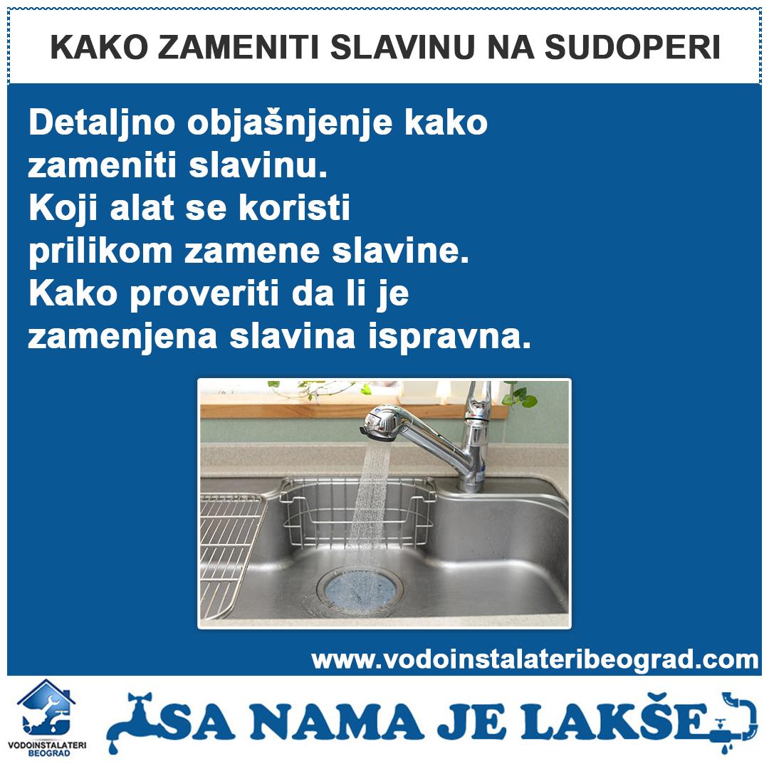 Kako zameniti slavinu na sudoperi - Vodoinstalateri Beograd