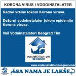 KORONA VIRUS VODOINSTALATER