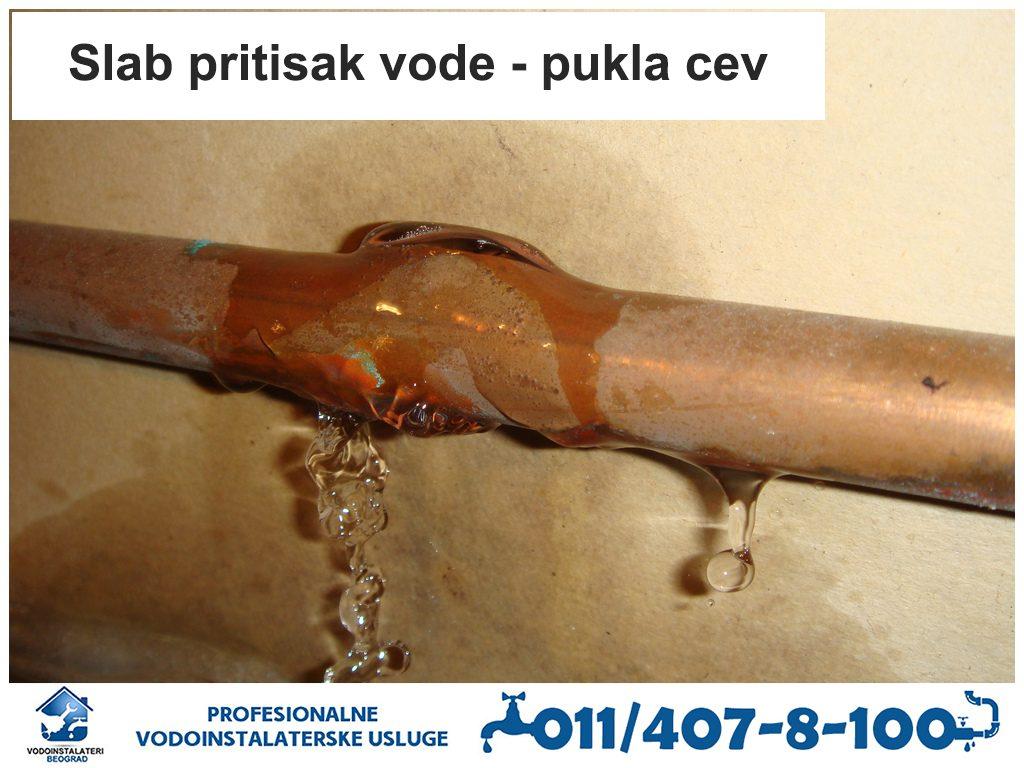 Slab pritisak vode - Vodoinstalateri Beograd Tim