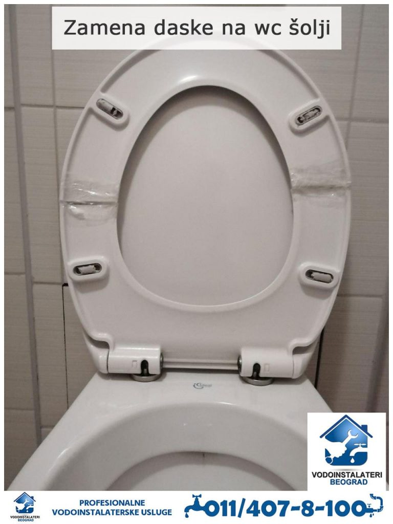 Zamena daske na wc šolji