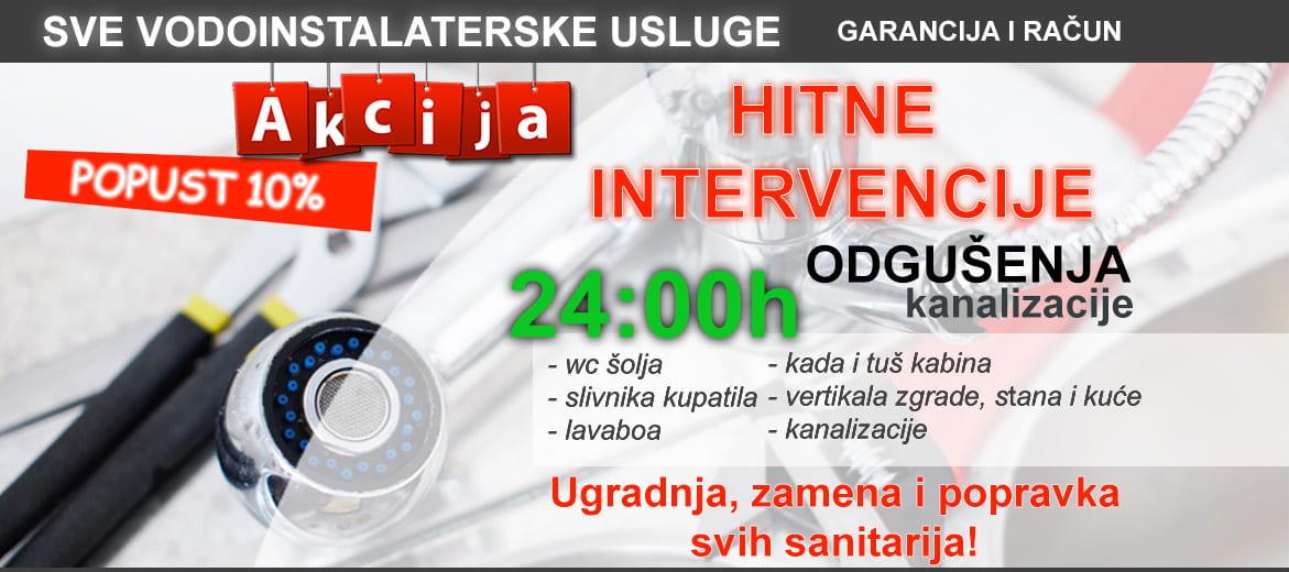 Vodoinstalater Beograd - 24h